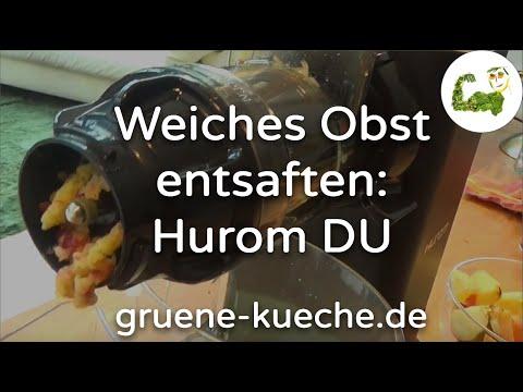 Hurom DU Slow Juicer - weiches Obst entsaften: Apfel, Orange und Zitrone (Teil 4/6)