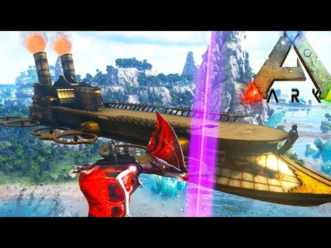 GIANT FLYING SKY SHIP! PYGMY GRIFFIN TAMING! - (Ep4) Ark Survival Evolved