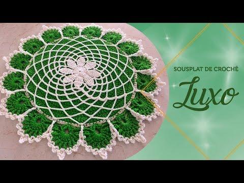 Neila Dalla Costa - Sousplat De Crochê Luxo