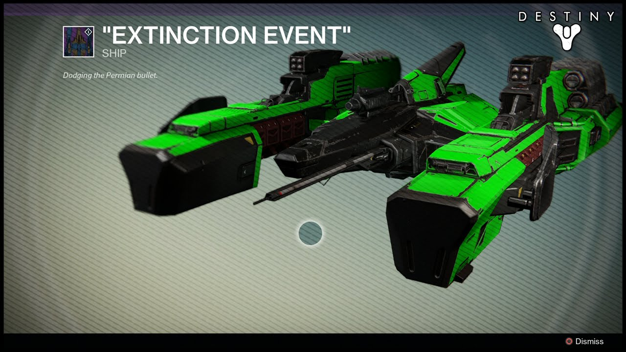 Destiny Extinction Event Legendary Ship Dark Below Dlc Youtube