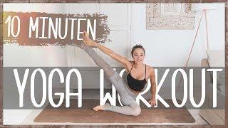YOGA für Anfänger ♥ 10 Minuten Home Workout gegen Rückenschmerzen und Verspannungen