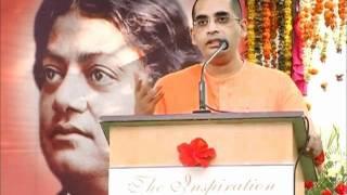 Swami Bodhamayananda speaking in National Youth Day Celebrations on 12 Jan 2012