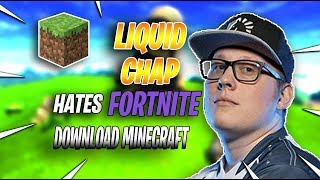 Chap *HATES* Fortnite and DOWNLOAD Minecraft - Fortnite Battle Royale