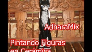 Gato de Cerámica - Pintando Figuras en Cerámica