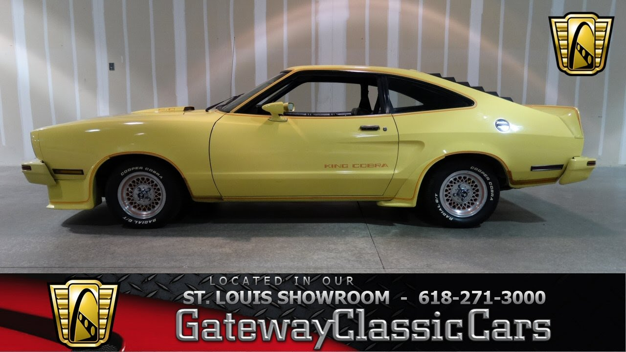1978 Ford Mustang King Cobra  Gateway Classic Cars St Louis