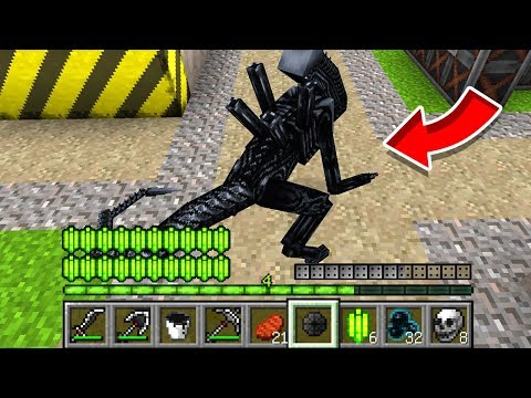 How to play ALIEN in Minecraft! Real life family XENOMORPH! Battle NOOB VS PRO Animation