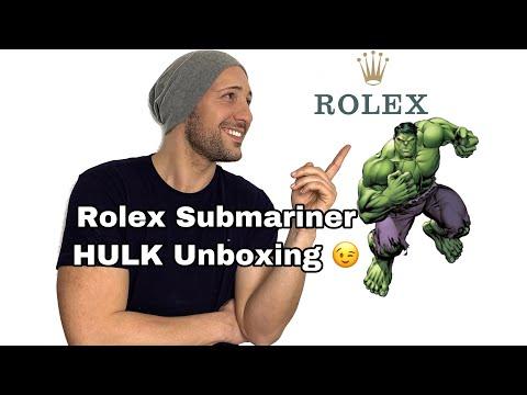 Rolex Hulk Submariner Unboxing