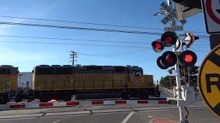 UP 1092 LRR93 Lodi Local Light Power, Bradshaw Rd. Railroad Crossing, Rancho Cordova CA