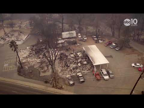 Camp Fire: A View of Paradise, California from the air