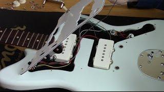 GUITAR TONE - SQUIER Jazzmaster Pickguard Replacement Demo Instruction