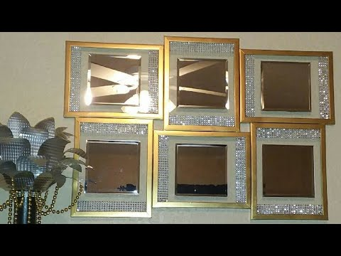 Dollar Tree DIY Elegant Mirrored Gallery Wall Decor| Glam Bling Dollar Tree DIY Mirror Wall Decor