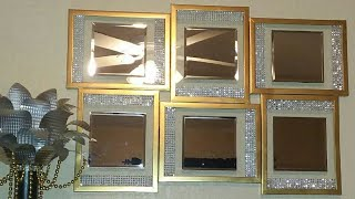 Dollar Tree DIY Mirrored Wall Decor| Dollar Tree DIY Home Decor