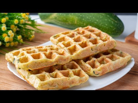I do not get tired of cooking them! Eaten Lightning fast! Zucchini Waffles. Cooking at home
