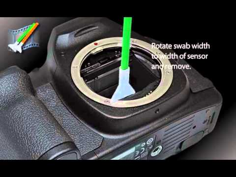 How to use sensor cleaning swabs (Vswabs) and solution for digital camera sensor cleaning.