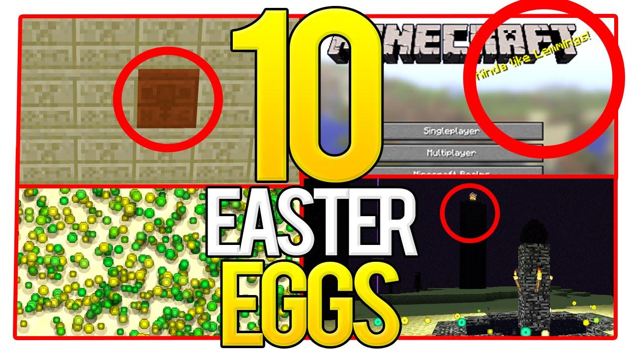 10 Minecraft Easter Eggs (Secret Hidden Easter Eggs) - YouTube