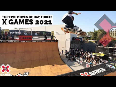 TOP 5 MOVES OF DAY 3: Tony Hawk, Gui Khury, Sky Brown | X Games 2021