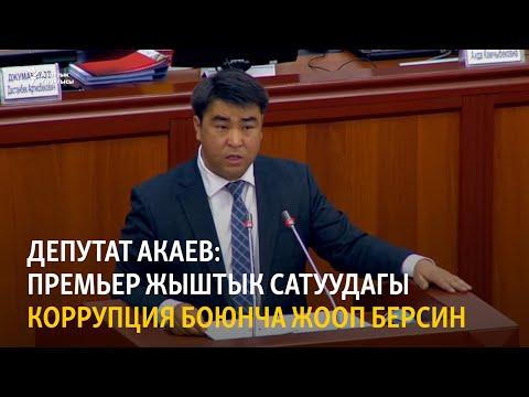 Депутат Акаев: премьер жыштык сатуудагы коррупция боюнча жооп берсин