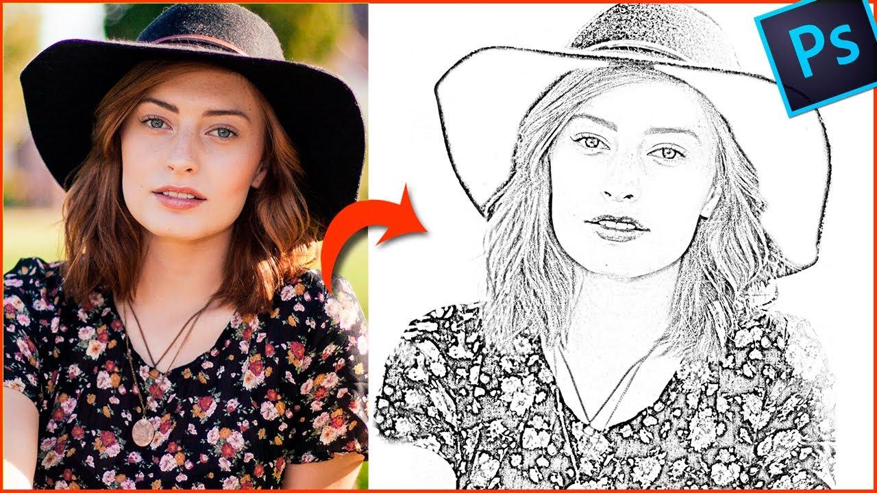 Convertir Una Foto En Dibujo A Lápiz Con Photoshop Tutorial De Edicion Youtube