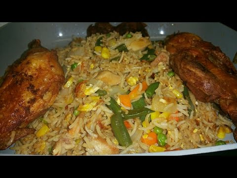 Best Ghana Fried Rice In Abroad / My Recipe/ 3y3 D3 Papa!!