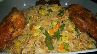 Best Ghana Fried Rice In Abroad / My Recipe/ 3y3 D3 Papa!!