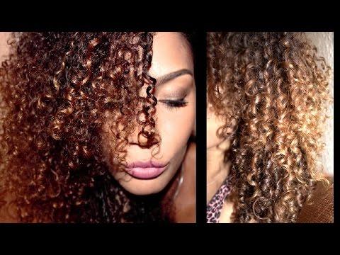 Afro locken bei glatten haaren