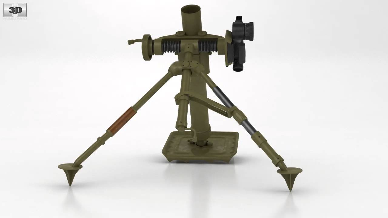 M2 Mortar By 3d Model Store Youtube