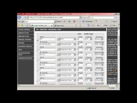 Virtual Servers and Port Forwarding