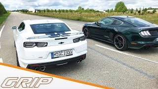 Ford Mustang Bullitt vs. Chevy Camaro I GRIP
