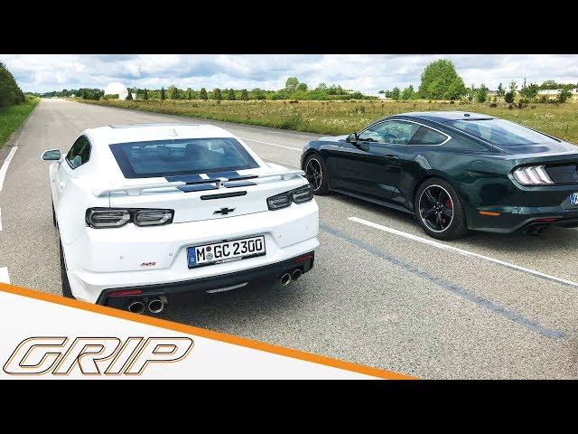 Ford Mustang Bullitt vs. Chevy Camaro I GRIP