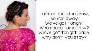 Glee - We've Got Tonite (Lyrics)