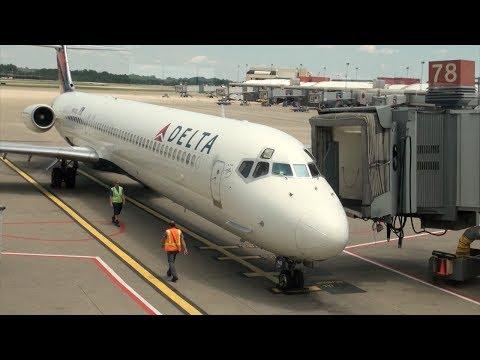 Delta Air Lines MD-88 N942DL DL 1599 Pittsburgh-Atlanta Trip Report - JT8D Engine Sound!