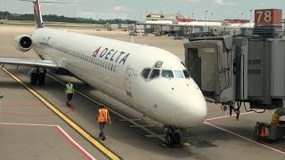 Delta Air Lines MD-88 N942DL DL 1599 Pittsburgh-Atlanta Trip Report - JT8D Engine Sound!