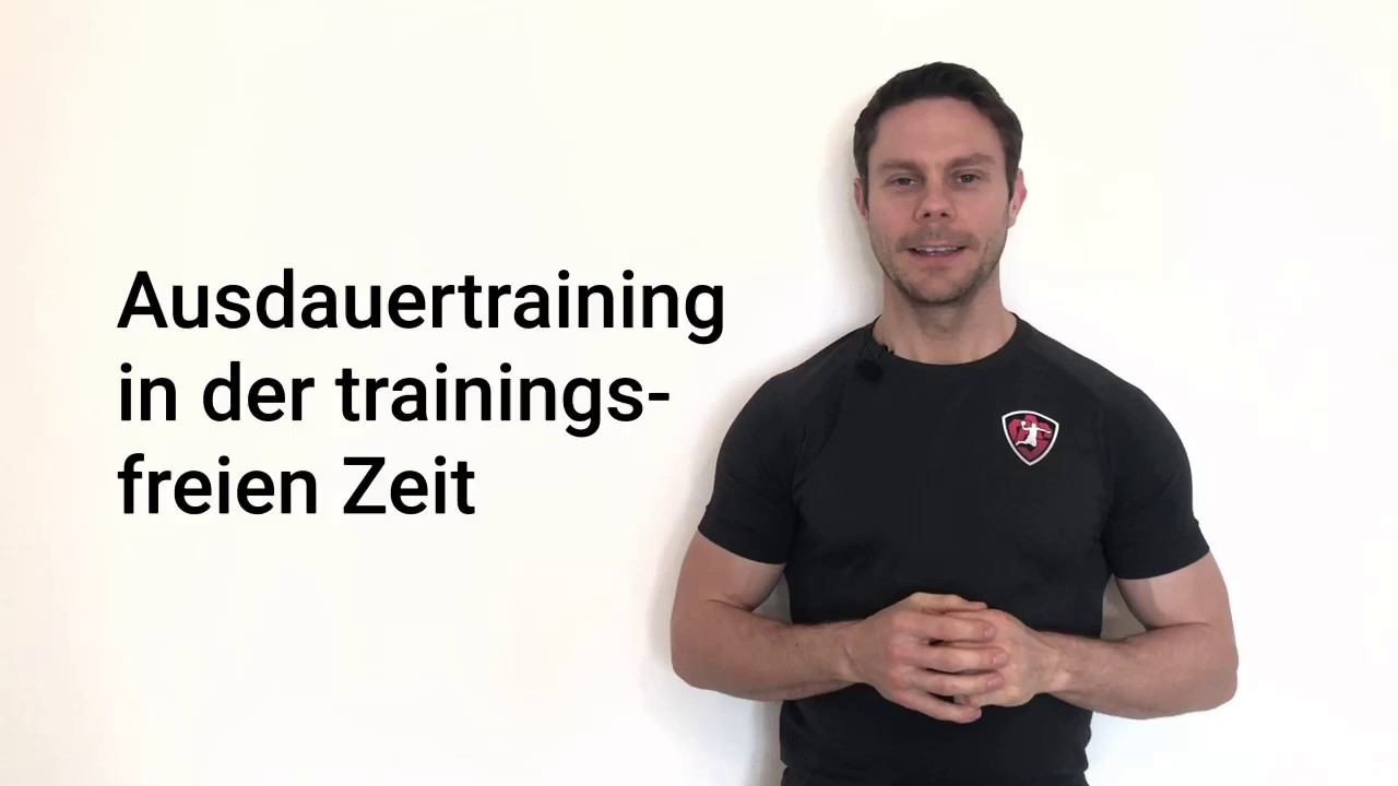 Ausdauertraining in der trainingsfreien Zeit