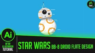 How To Create Star Wars BB-8 Droid Flate Design in Illustrator cc- Illustrator Tutorial-60FPS HD
