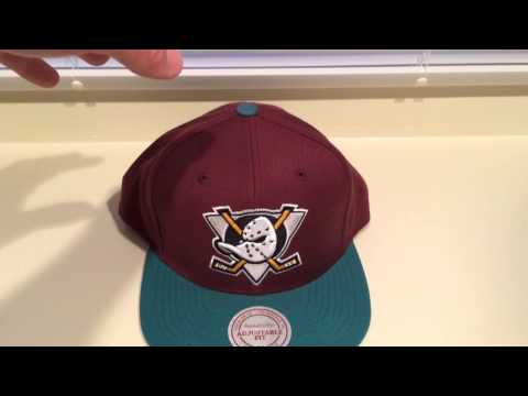 new products a4436 6cebc Hat Review  Three Anaheim Mighty Duck Snapbacks - YouTube