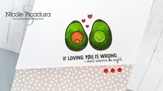 Simply Colored Love Card - Start-To-Finish #37