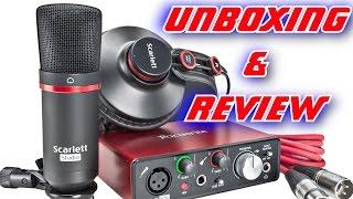 focusrite scarlett solo 2nd gen usb audio interface bundle unboxing review