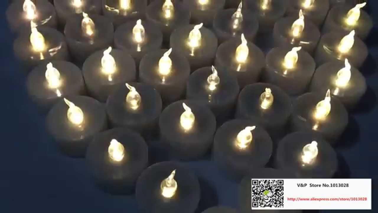 Flameless Led Tealight Electronic Candles Light Christmas Wedding Candle Flickering Tea