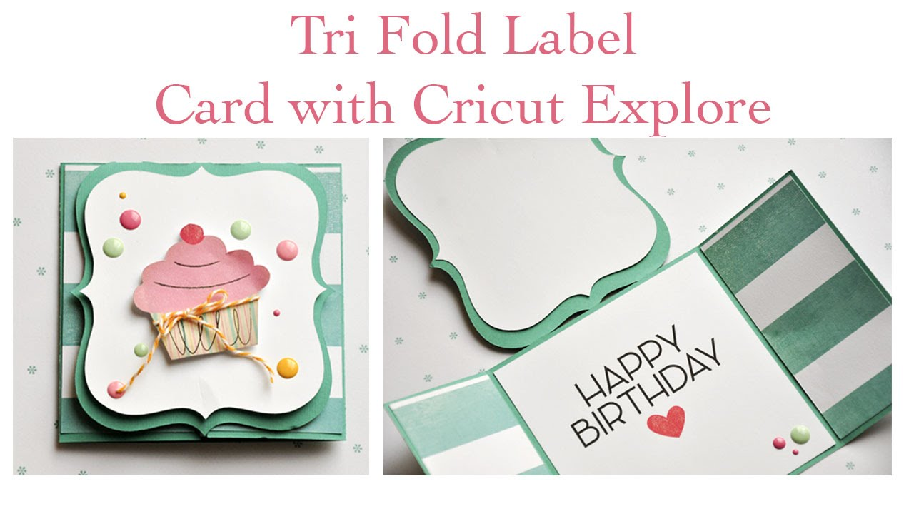 Trifold Card With Cricut Explore   YouTube