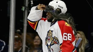 Repeat youtube video Subban dresses as Jagr in Breakaway Challenge
