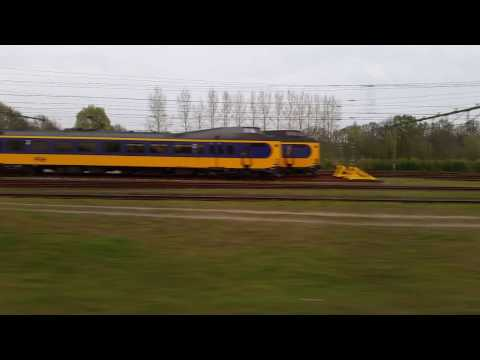Holland by train: crossing the river IJssel