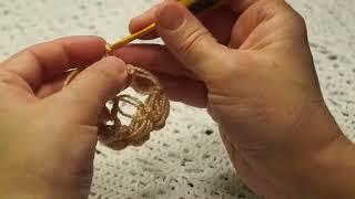 Бактус или мини - шаль соломоновыми петлями.Crochet Shawl (Шаль #33)
