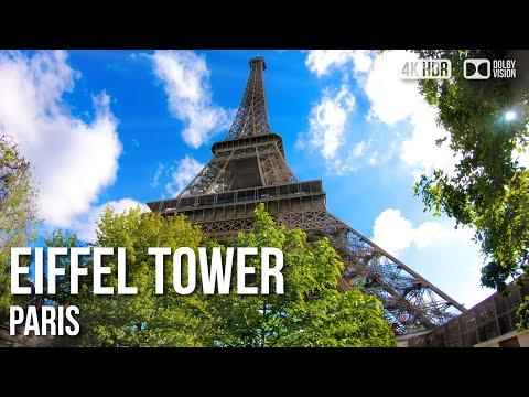 Eiffel Tower Paris, Elevator Ride Top Floor - 🇫🇷 France - 4K Walking Tour
