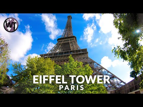 Eiffel Tower Paris  - Elevator Ride Top Floor - Walking Tour〚𝟒𝐊〛🇫🇷 France