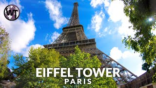 4K Virtual Tour - Eiffel Tower Paris, Elevator Ride Top Floor - 🇫🇷 France