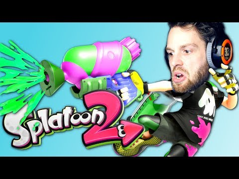 TRIPLE KILL! Splatoon 2 Splat Roller Turf War Multiplayer Gameplay