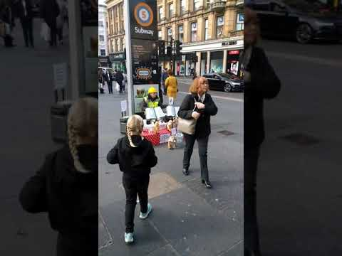 Dancing Cats with the Bin Man in Glasgow