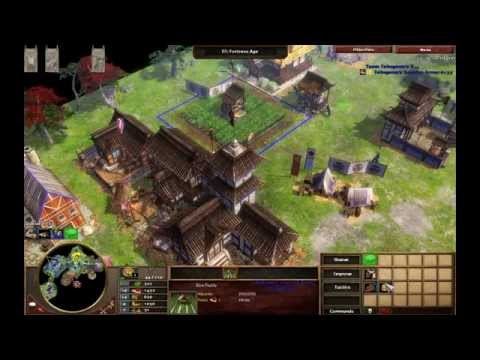 The Siege of Osaka - Japan M1 - Hard Walkthrough - Age of Empires III Asian Dynasties