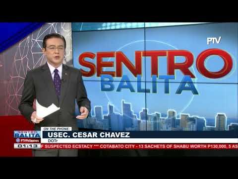 Panayam ng PTV News kay DOTr USec. Cesar Chavez kaugnay ng usapin sa MRT-3