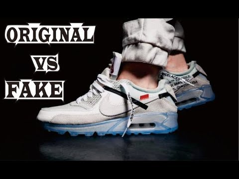 Difference Off White X Nike Air Max 90 Original & Fake
